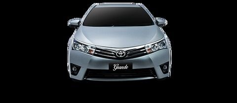 Full Front View of Corolla Altis Grande
