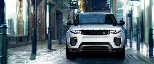 Full Front View of Range Rover Evoque